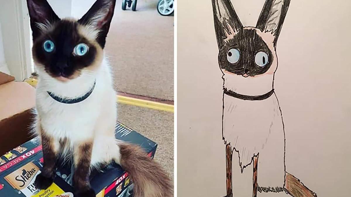 Британець малює портрети домашніх тварин, щоб допомогти бездомним