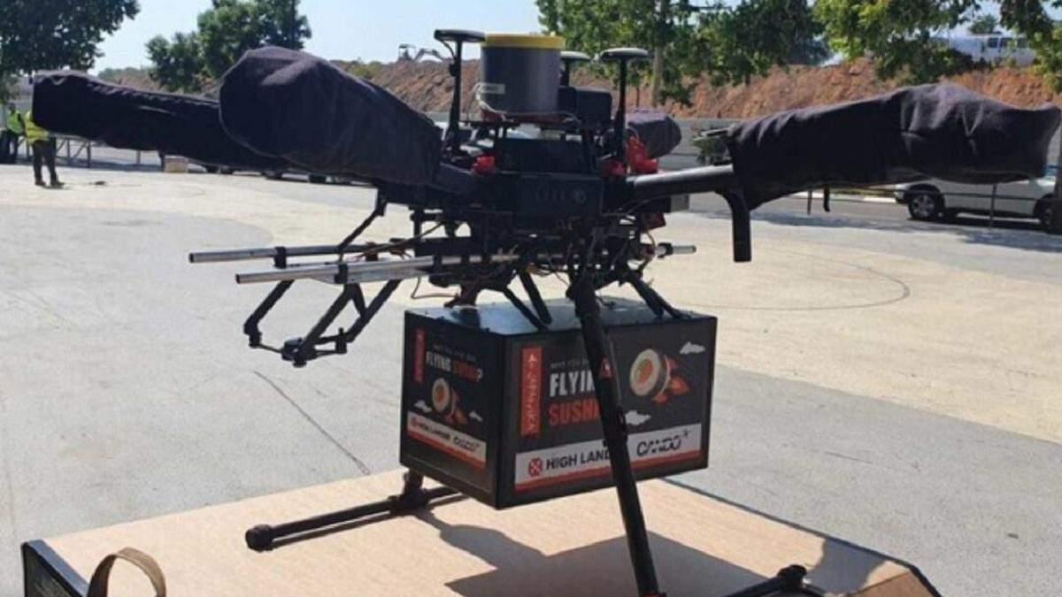 В Ізраїлі дрон-кур'єр вперше доставив клієнту замовлення з ресторану - Тренди
